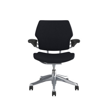 Humanscale Freedom Chair In Polished Frame, Black fabric