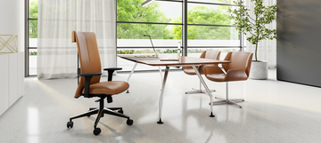 Leef by CavilUSA Highly Adjustable Executive Model Light Brown Leather