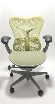 Herman Miller Mirra Chair Citron Flex Mineral Frame Mesh Seat