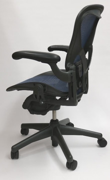 Herman Miller Aeron Chair Fully Featured with Posturefit Size B Cobalt Blue