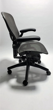 Herman Miller Aeron Chair Fully Featured with Posturefit Size B Gray