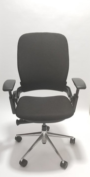 Steelcase Leap Chair V2 Polished Aluminum Base With 4 Way Pivot Armrests