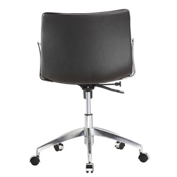 Comfy Office Chair Mid Back, Black by Fine Mod