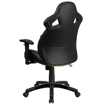 Flash Furniture High Back Canary Yellow Executive Gaming-Racing Swivel Chair with Comfort Coil Seat Springs and Black Base