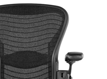 Herman Miller Aeron Chair Fully Featured with  Posturefit Size B Black Wave