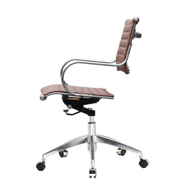 Flees Office Chair Mid Back, Light Brown by Fine Mod