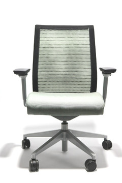Steelcase Think Chair Light Gray Seat Gray Base / Fixed ARMS