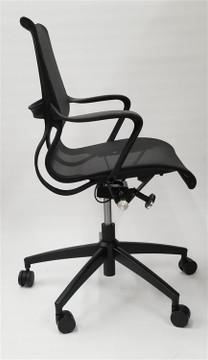 Flash Furniture Conference Setu Style Mid Back Task Chair in Black