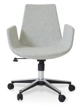 Soho Concept Eiffel Arm Office Chair in Wool