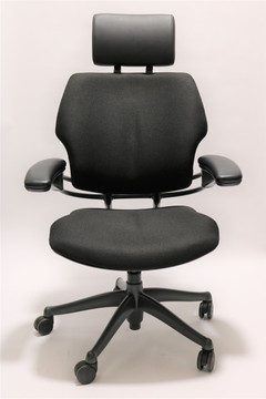 Humanscale Freedom Chair Added Headrest Fully Adjustable Model Black Fabric