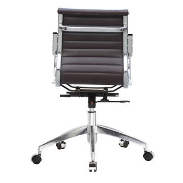 Twist Office Chair Mid Back, Dark Brown by Fine Mod