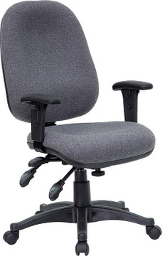 Flash Furniture Mid-Back Gray Fabric Multifunction Executive Swivel Chair with Adjustable Arms