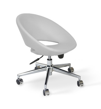 Soho Concept Crescent Office Chair in Leather
