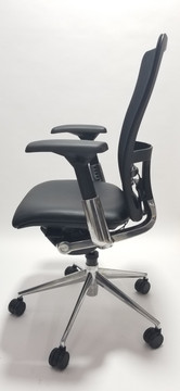 Haworth Zody Chair in Black Leather Seat Fully Adjustable Model