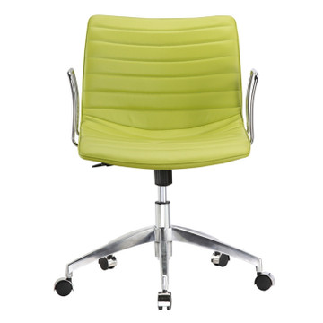 Comfy Office Chair Mid Back, Green by Fine Mod