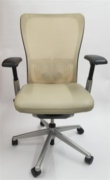Haworth Zody Chair in Leather Fully Adjustable Model in Tan