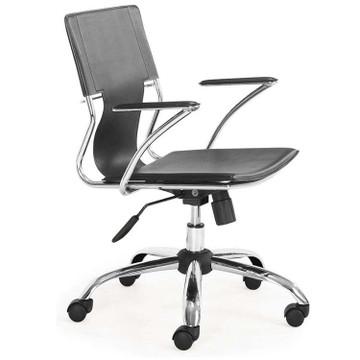 Elegant Office Chair, Black by Fine Mod