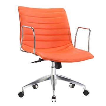 Comfy Office Chair Mid Back, Orange by Fine Mod