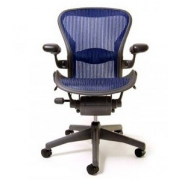 d65868e860fba Herman Miller Aeron Chair Fully Featured Size B Cobalt Blue