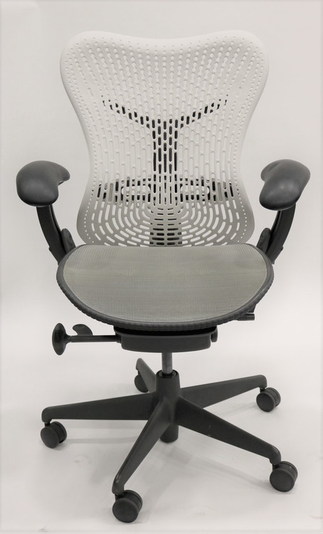 Herman Miller Mirra Chair Fully Featured White Flex Back