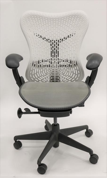 Herman Miller Mirra Chair Fully Featured White Flex Back