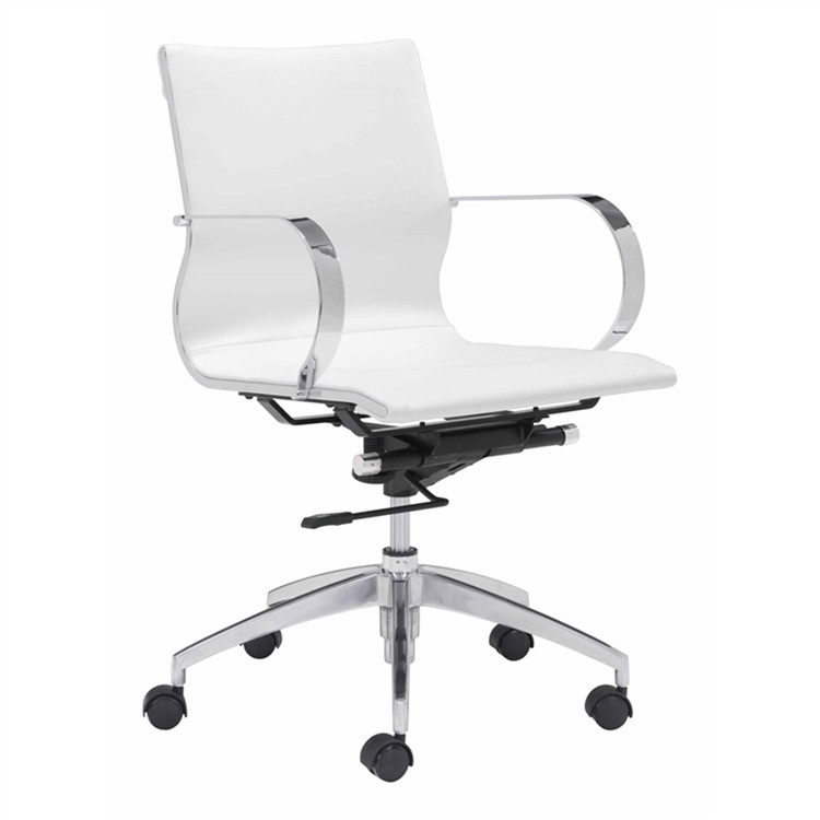 Conference Office Chair Mid Back, White by Fine Mod