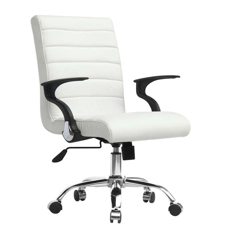 Timeless Office Chair, White by Fine Mod
