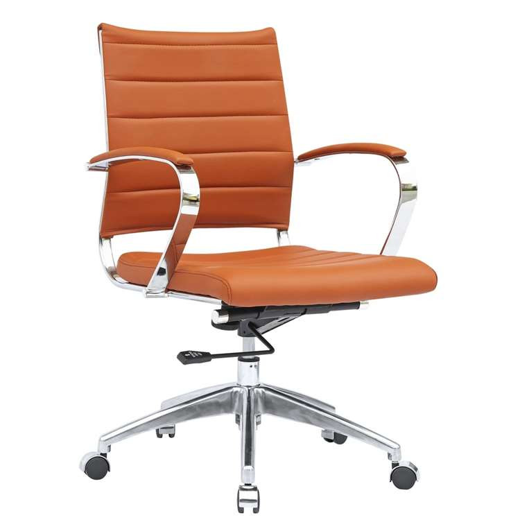 Sopada Conference Office Chair Mid Back, Light Brown by Fine Mod