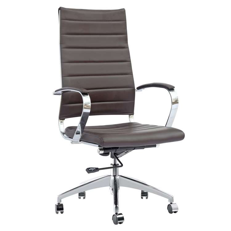 Sopada Conference Office Chair High Back, Dark Brown by Fine Mod