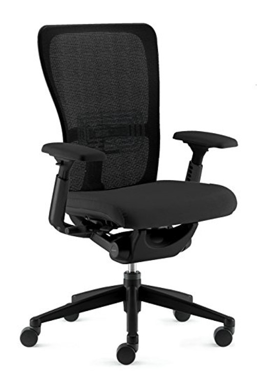 Haworth Zody Chair Mesh Back Black Mesh Semi Adjustable Model