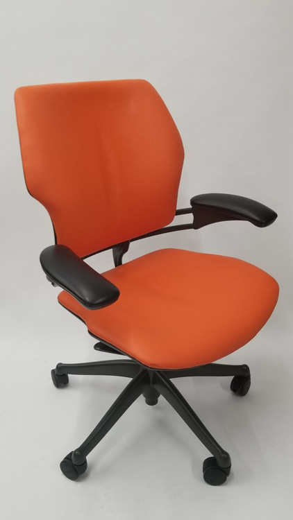 Humanscale Freedom Chair Fully Adjustable Model Orange Leather
