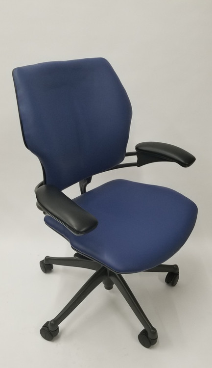 Humanscale Freedom Chair Fully Adjustable Model Navy Leather