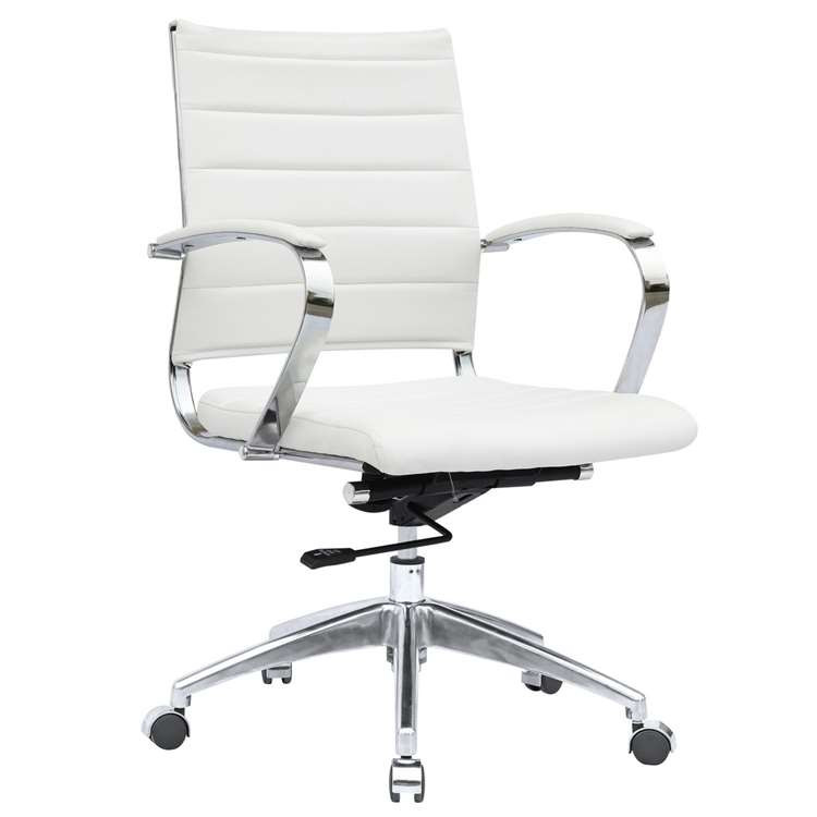 Sopada Conference Office Chair Mid Back, White by Fine Mod