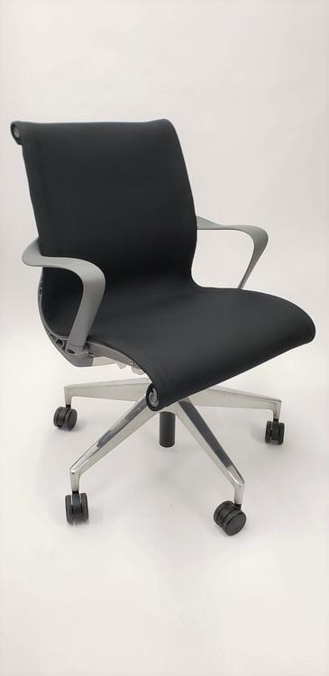 Herman Miller Setu Chair Black Fabric Padded