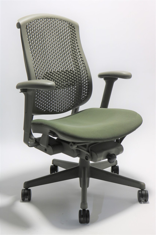 Herman Miller Celle Chair Green Seat + Adjustable Lumbar