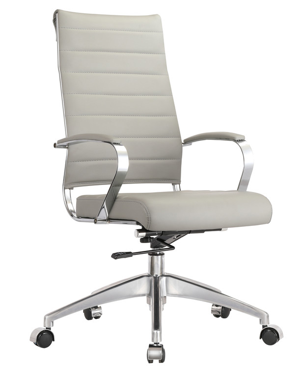 Sopada Conference Office Chair High Back, Gray by Fine Mod