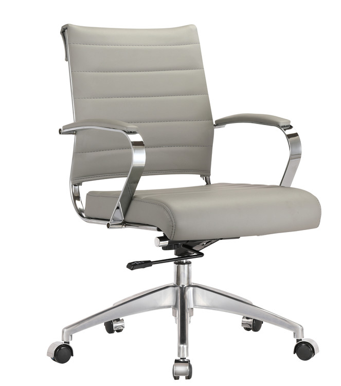 Sopada Conference Office Chair Mid Back, Gray by Fine Mod