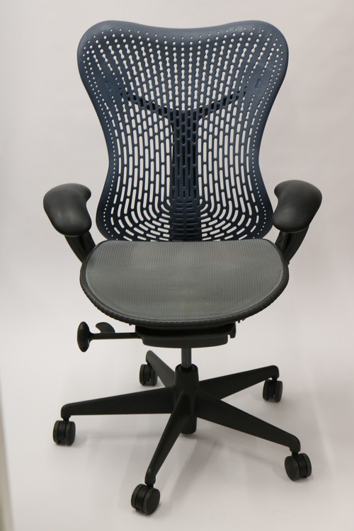 Herman Miller Mirra Chair Semi Loaded Navy Flex Back