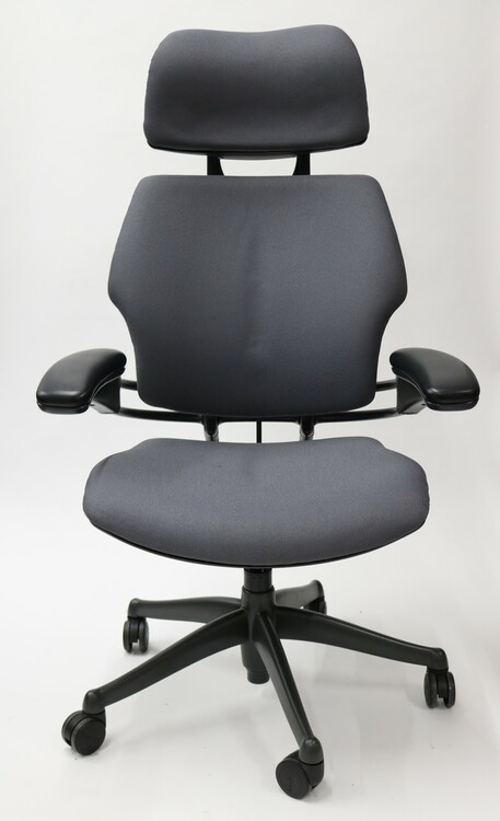 Humanscale Freedom Chair Fully Adjustable Model With Headrest Gray