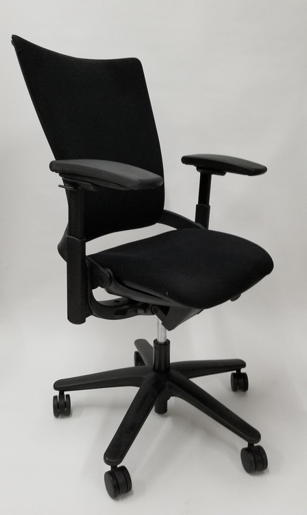 Allsteel Sum Chair Office Task Chair Black Fabric
