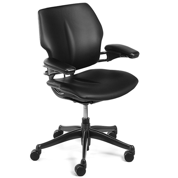 Humanscale Freedom Chair Fully Adjustable Model Black Leather