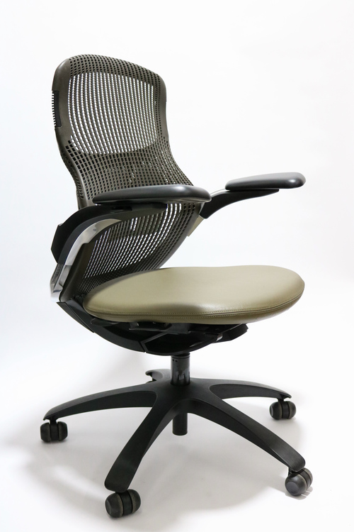 Knoll Generation Chair Fully Adjustable Model Espresso and Leather Seat