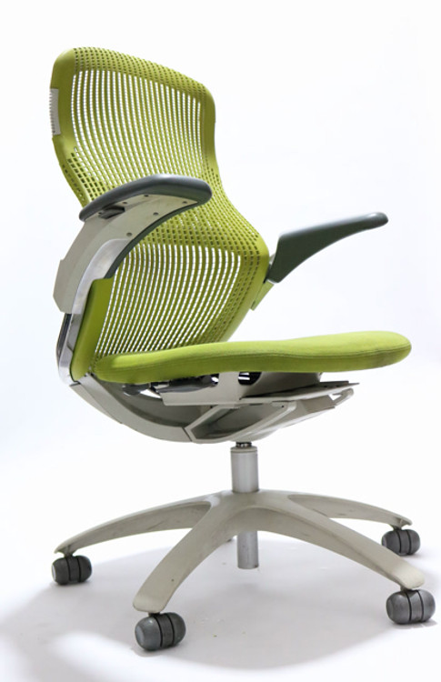 Knoll Generation Chair Fully Adjustable Model Green Back and Green Seat