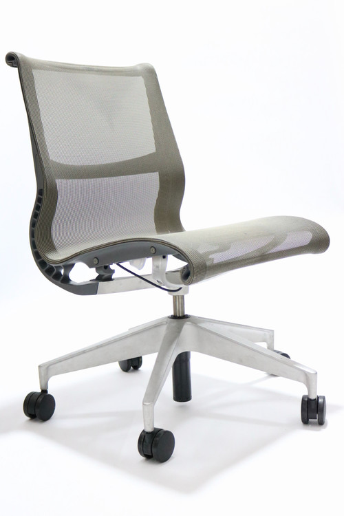 Herman Miller Setu Chair Berry Gray No Arm