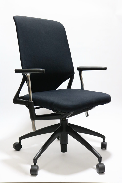 Vitra Meda2 Chair Black Fabric Seat Mesh Back