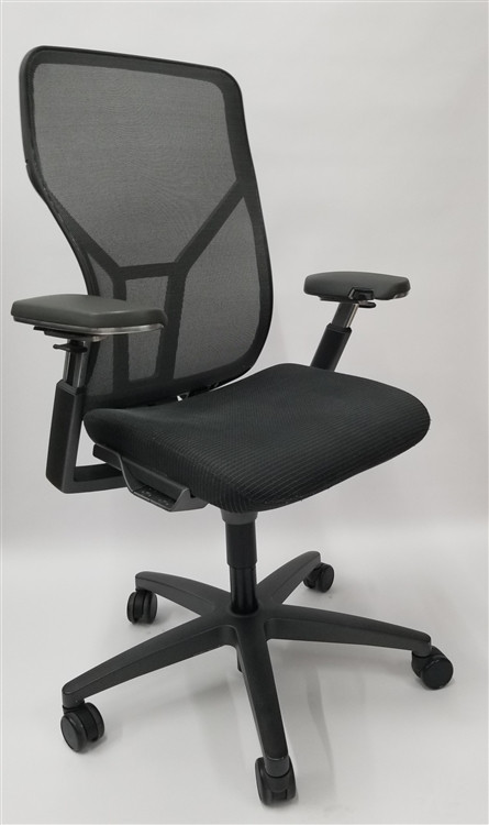 Allsteel Acuity Chair, Fully Loaded, Black Leather Seat + Fully Adjustable Arms Brand NEW