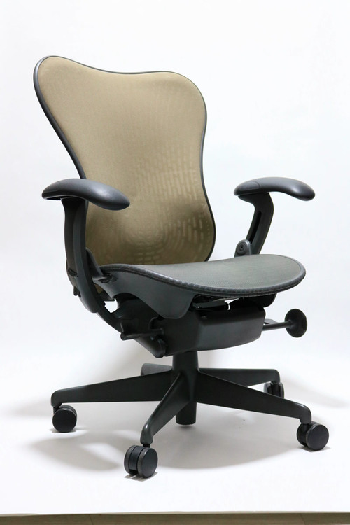 Herman Miller Mirra Chair Latitude Back Brown Mesh Back and Gray Mesh Seat