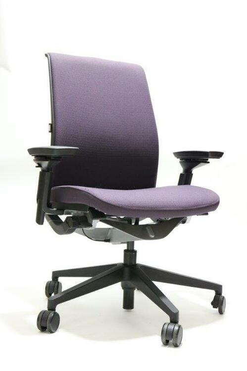 Think Chair V2 Dark Purple 3D Mesh Model 4 Way Arms and Lumbar