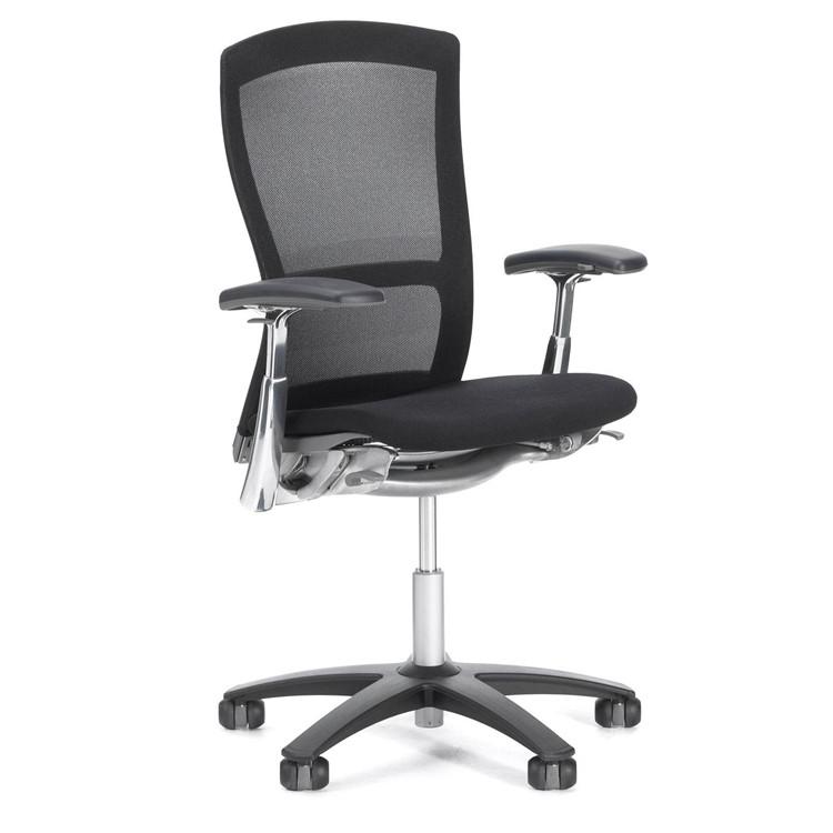 Knoll Life Chair Fully Adjustable Model Dark Brown Mesh Back