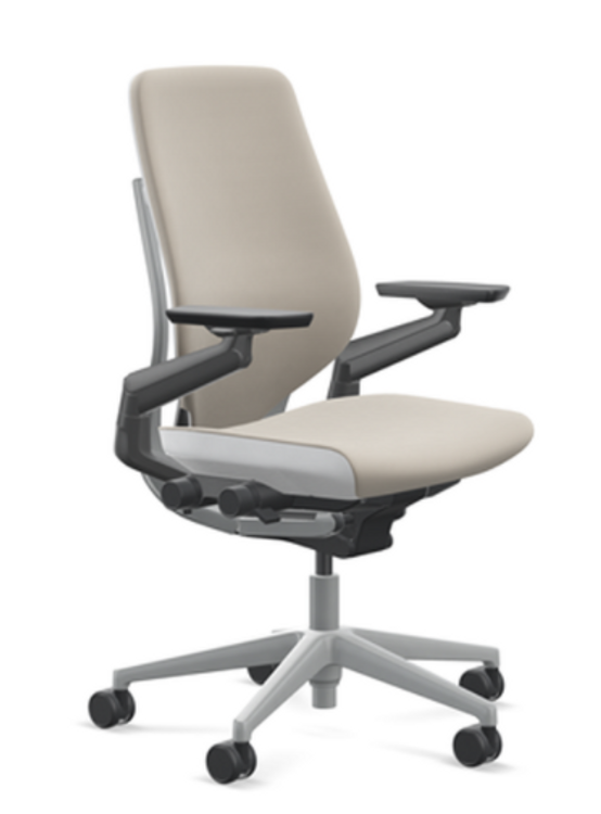 Steelcase Gesture Chair WIth 4-D Arms Beige Fabric